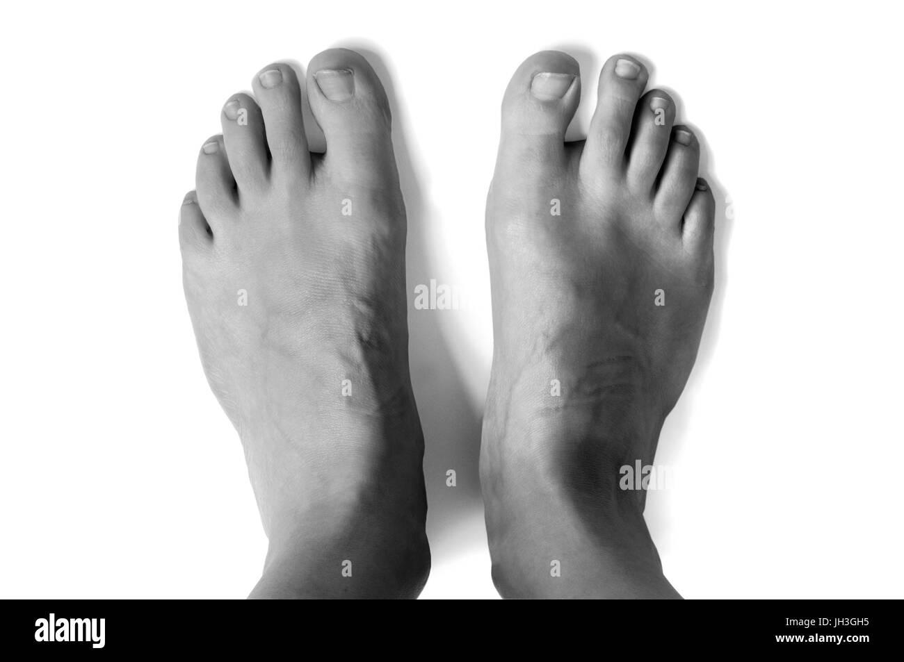 woman feet - Stock Image