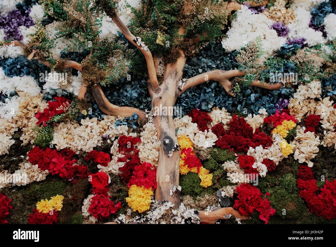 An Exhibit at the Bellagio casino flower garden in Las Vegas - Stock Image