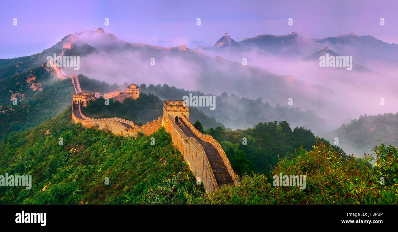 Great Wall,Jinshanling,Hebei,China - Stock Image