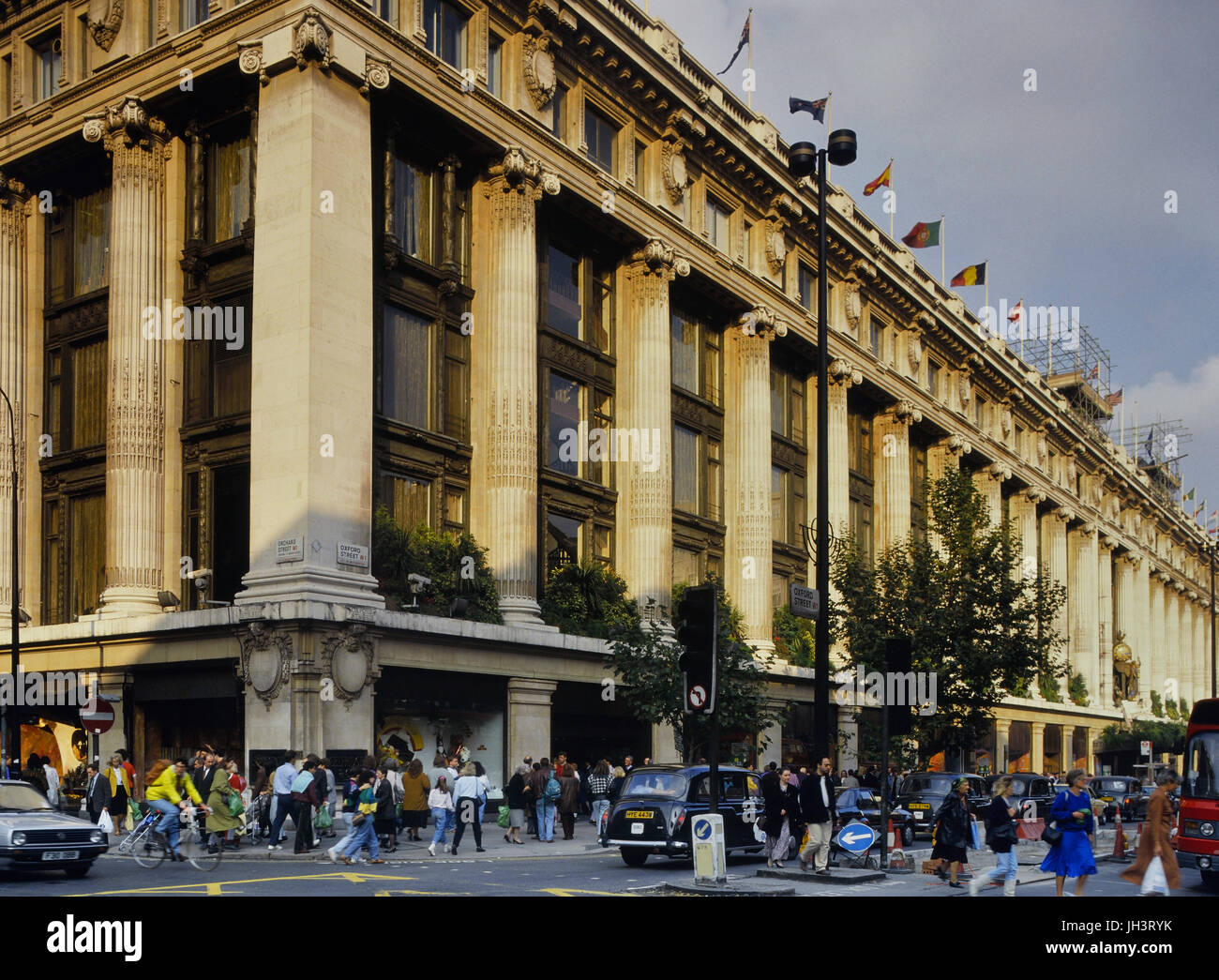 Selfridges department store, Oxford Street, London, England, UK. Circa 1980's - Stock Image