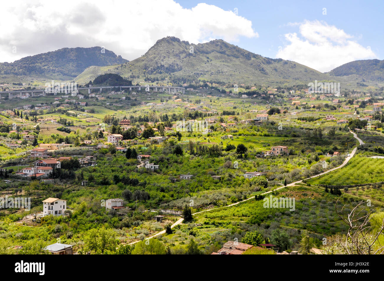 Conca d'Oro valley on the outskirts of Palermo, Sicily, Italy. - Stock Image