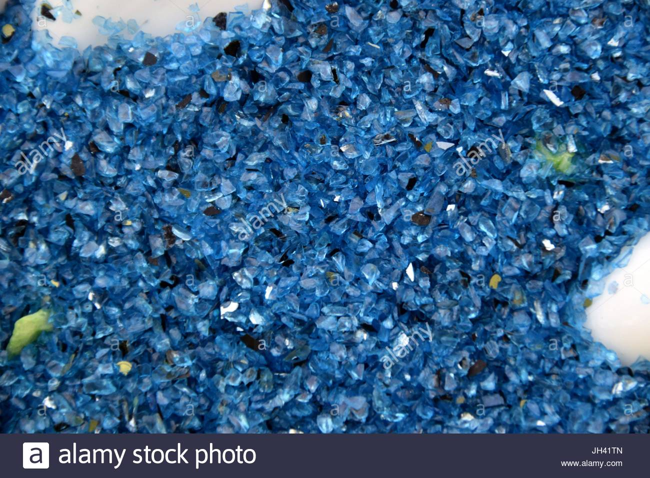 Crystals and Stones, shimmering crystals - Stock Image