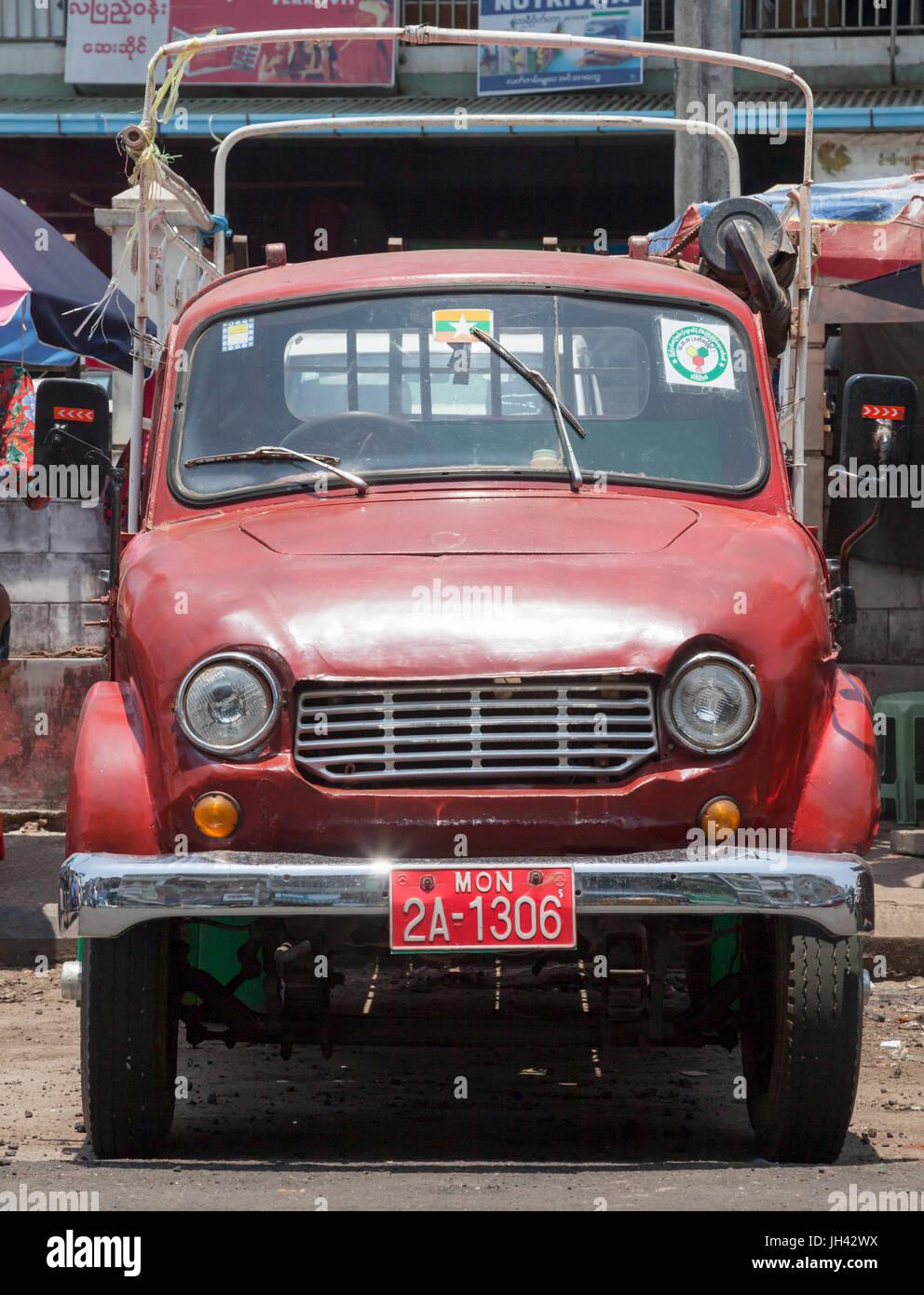 1960s Lorry Stock Photos Images Alamy 19601970 Mercedes Benz Trucks Vintage Mazda D1500 Truck Mawlamyine Myanmar Image