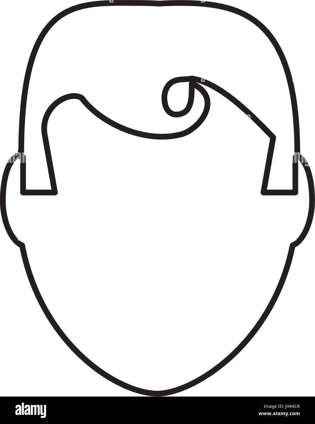 Retro Man cartoon icon vector illustration graphic design - Stock Image