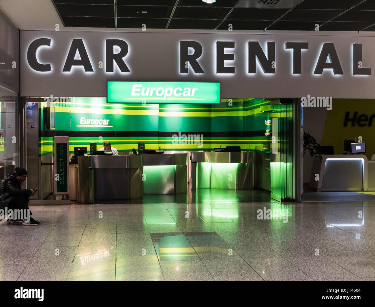 Frankfurt Germany February 27 2016 Car Rental At Frankfurt