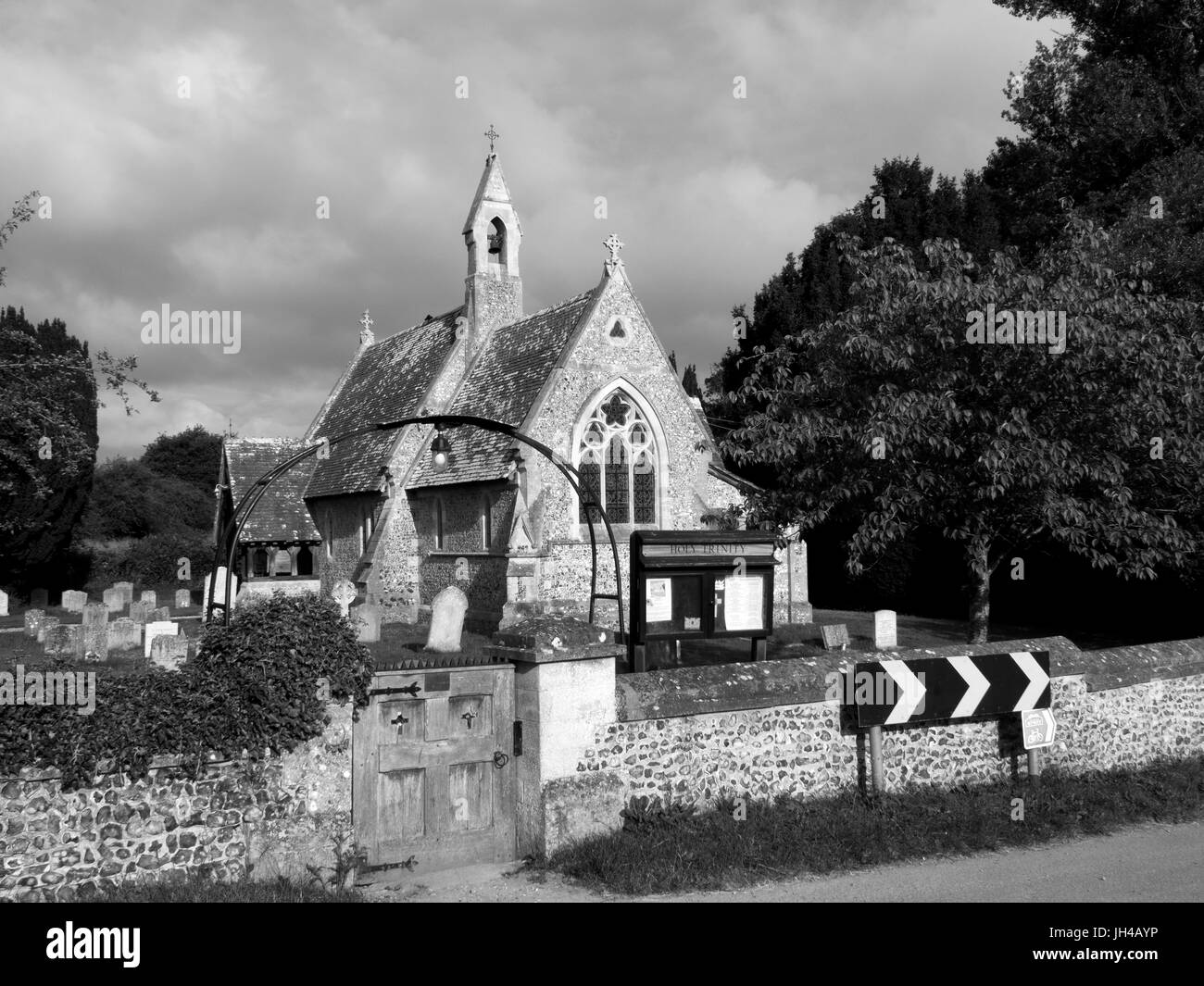 Historic Holy Trinity Church, built in 1857 to the designs of F.H. Powell - Stock Image