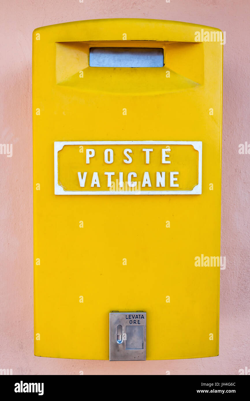 Vatican postbox on the roof of St Peter's Basilica, Vatican, Rome, Italy - Stock Image