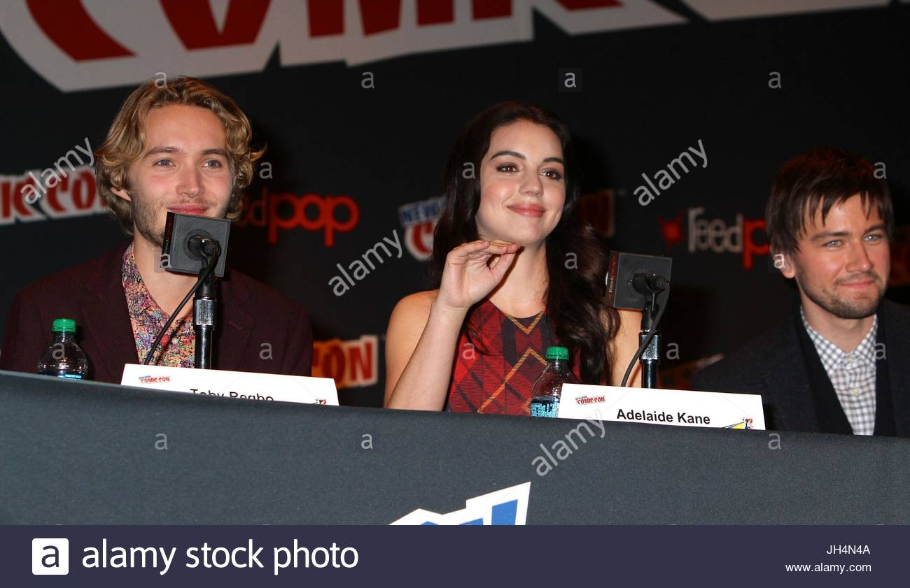 adelaide kane  torrance coombs and toby regbo  adelaide kane stock photo  148236490