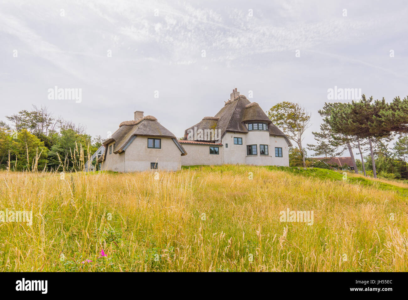 The residence of the polar explorer Knud Rasmussen, now a museum. He lived here between his expeditions, Hundestad, - Stock Image