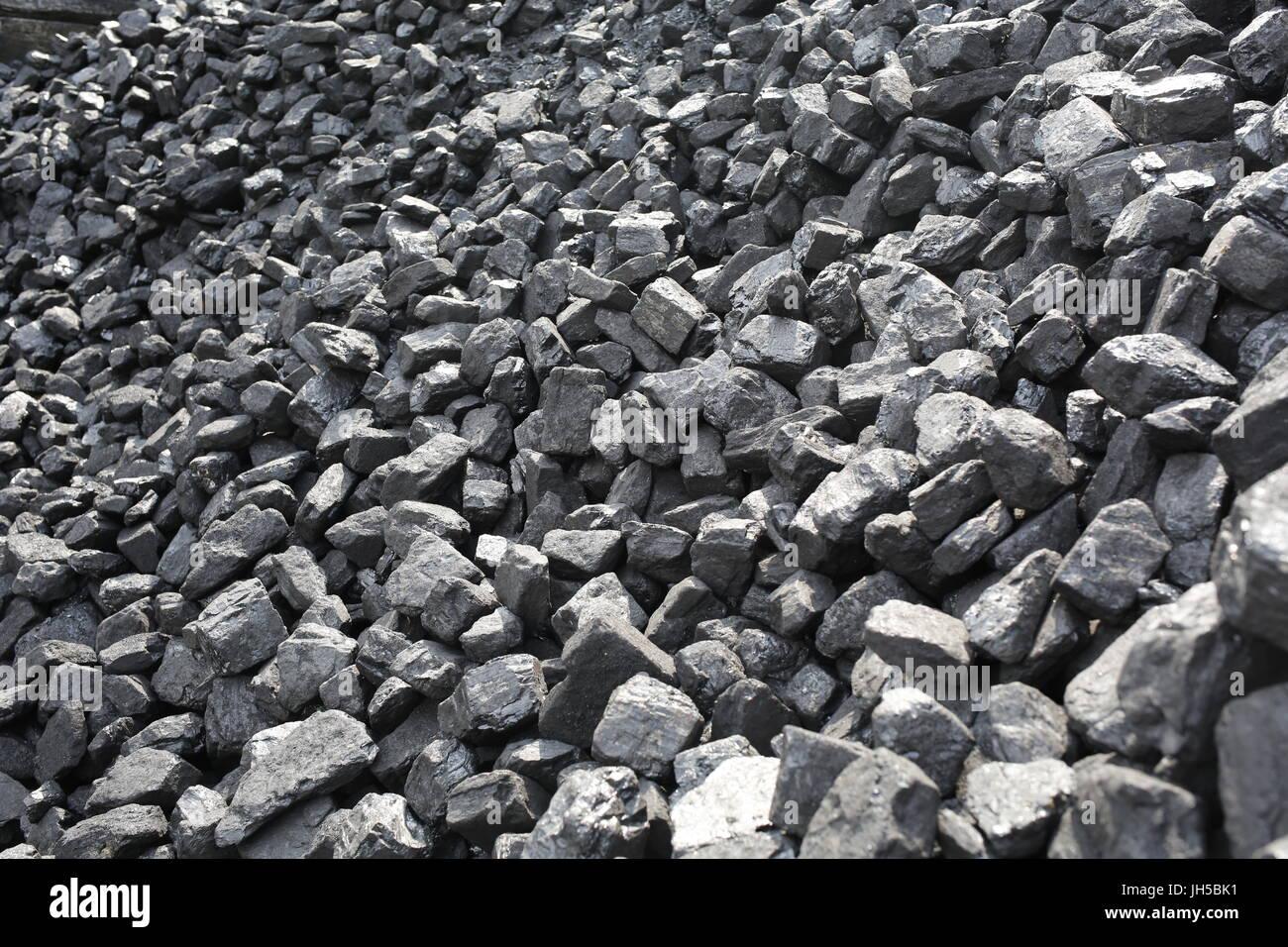 coal pile - Stock Image