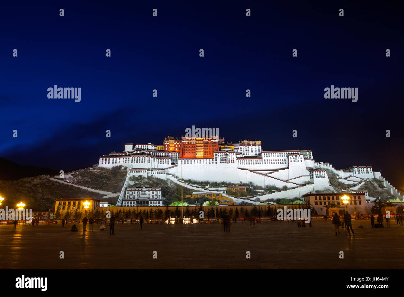 the Potala Palace,Lhasa,Tibet,China - Stock Image