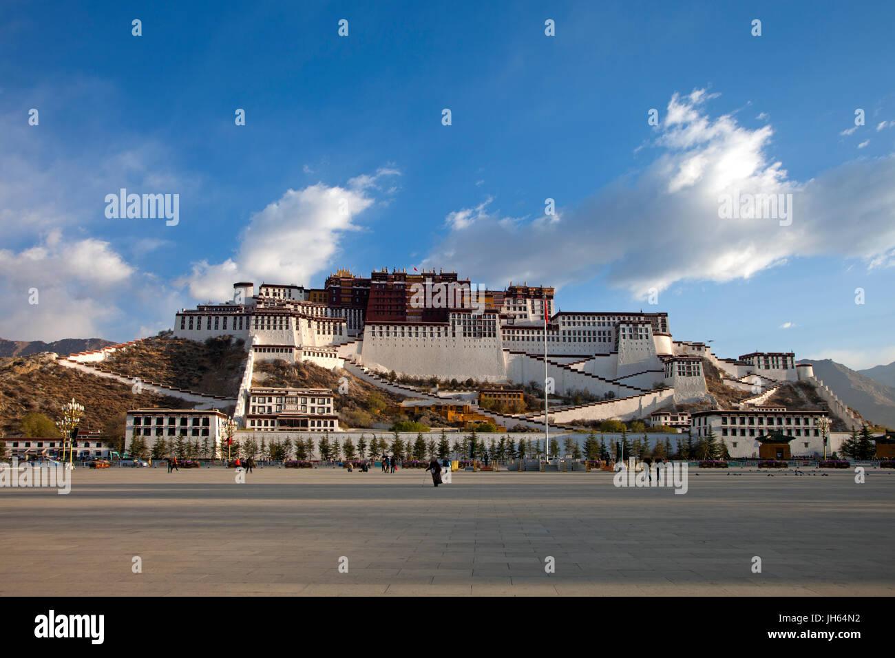the Potala Palace,Lhasa,Tibet,China - Stock Image