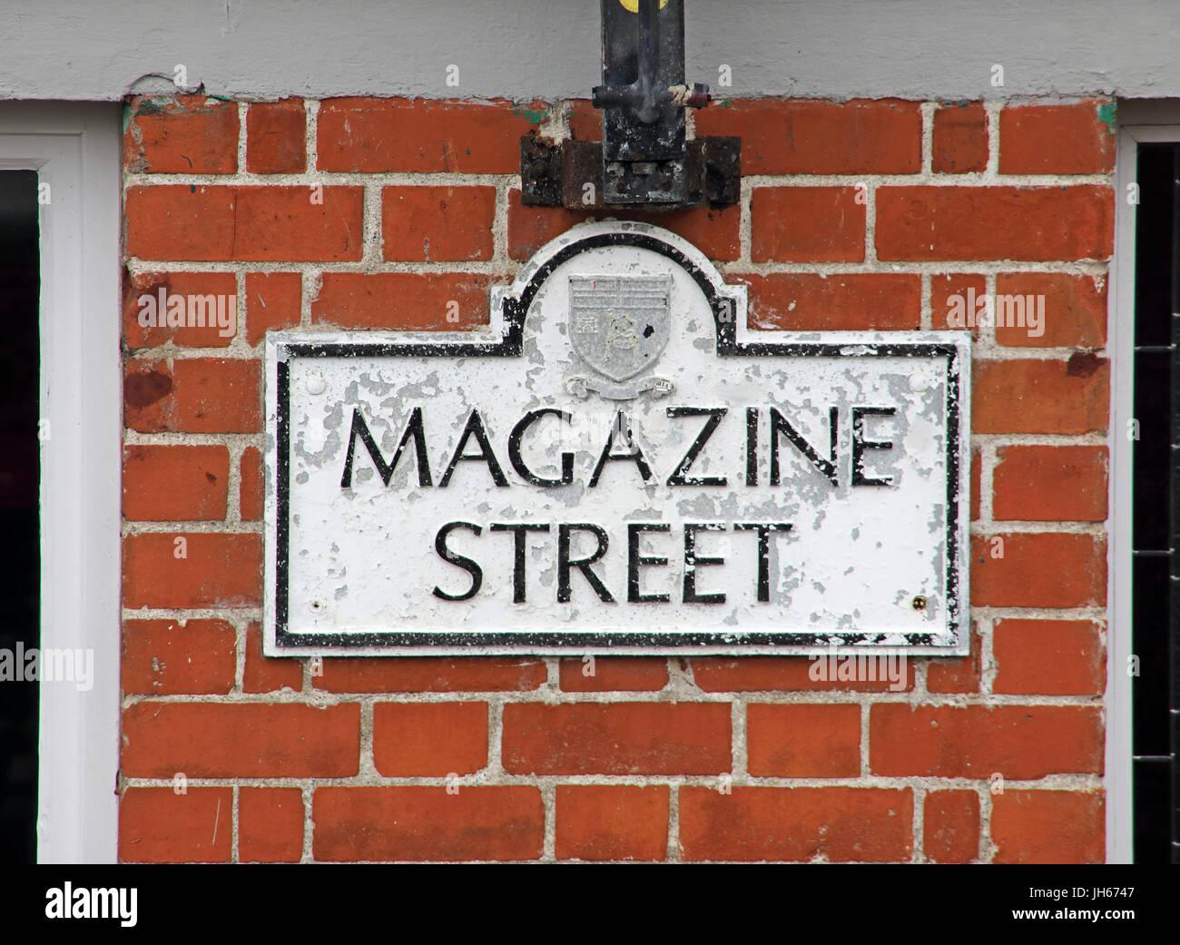 Magazine St,Londonderry city Northern Ireland - Stock Image