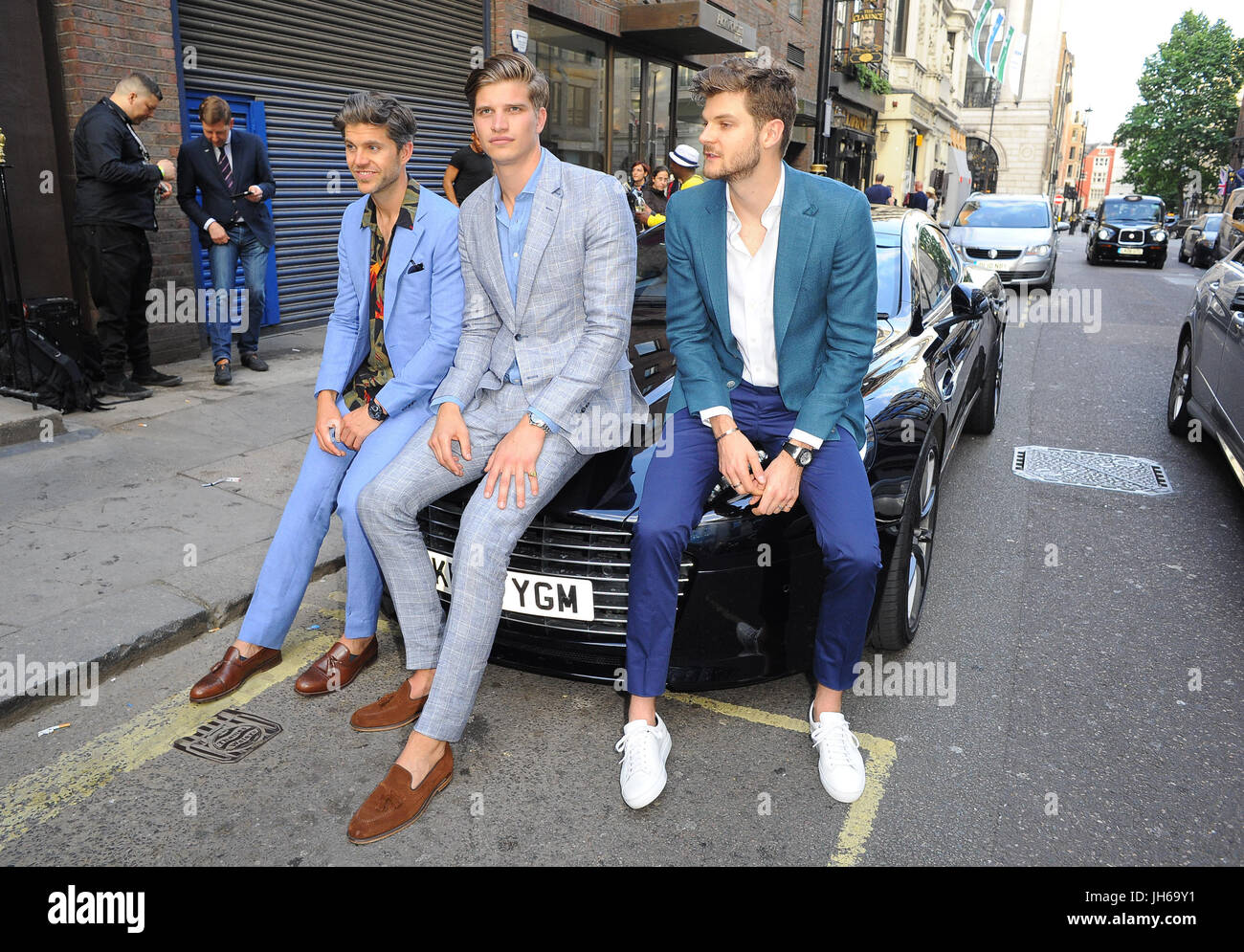 50185608d8 Aston Martin x Hogan London Fashion Week Men s Cocktail Party in  partnership with GQ Style Featuring  Darren Kennedy