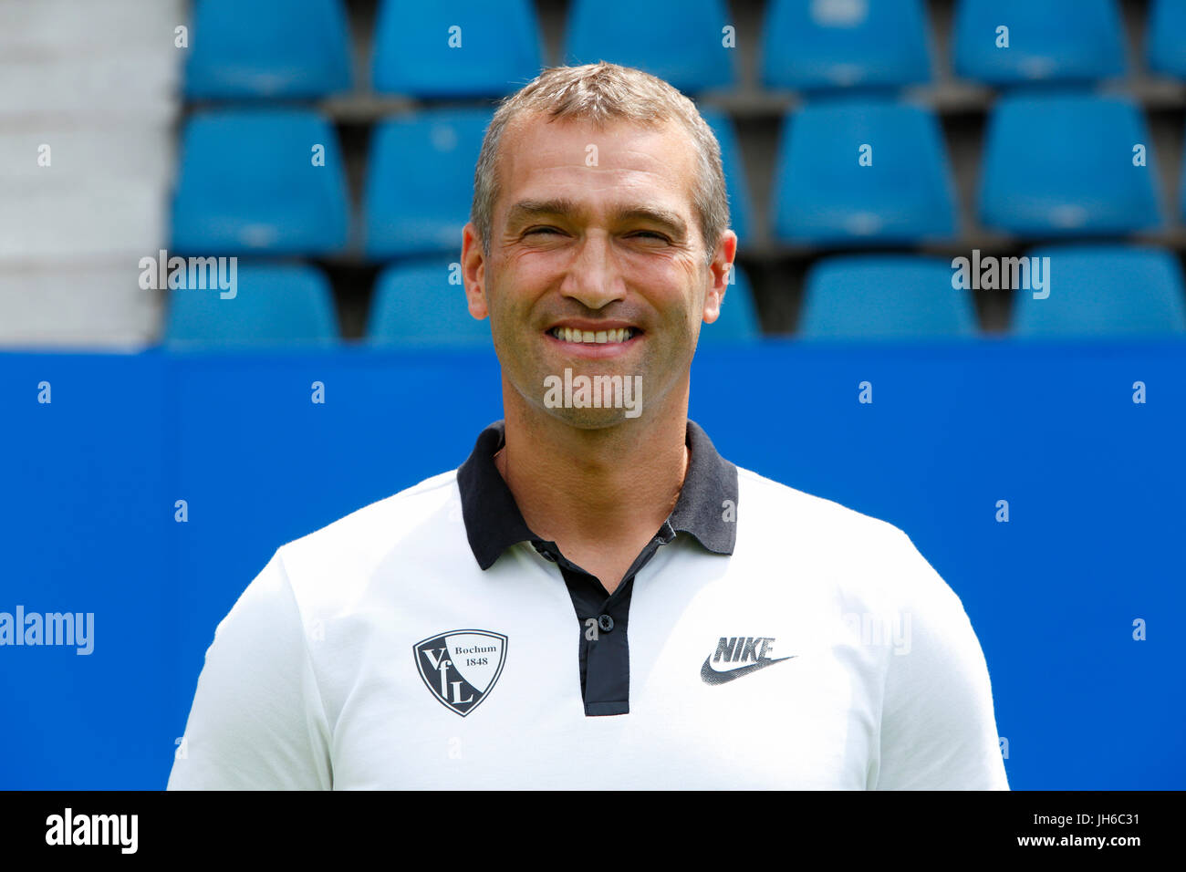 football, 2. Bundesliga, 2017/2018, VfL Bochum, team presentation for the game season, kitman Andreas Pahl - Stock Image
