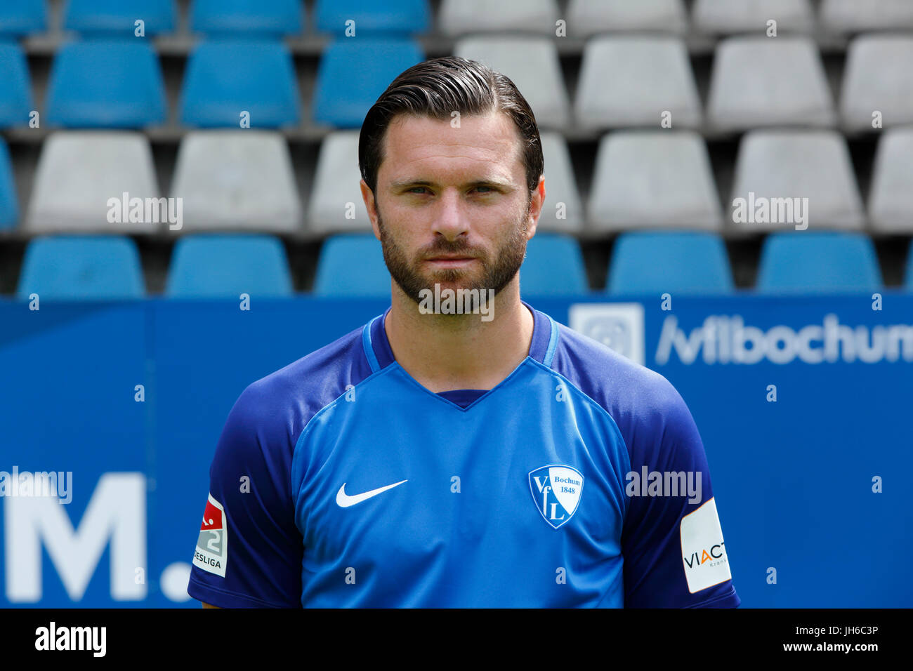 football, 2. Bundesliga, 2017/2018, VfL Bochum, team presentation for the game season, Tim Hoogland - Stock Image
