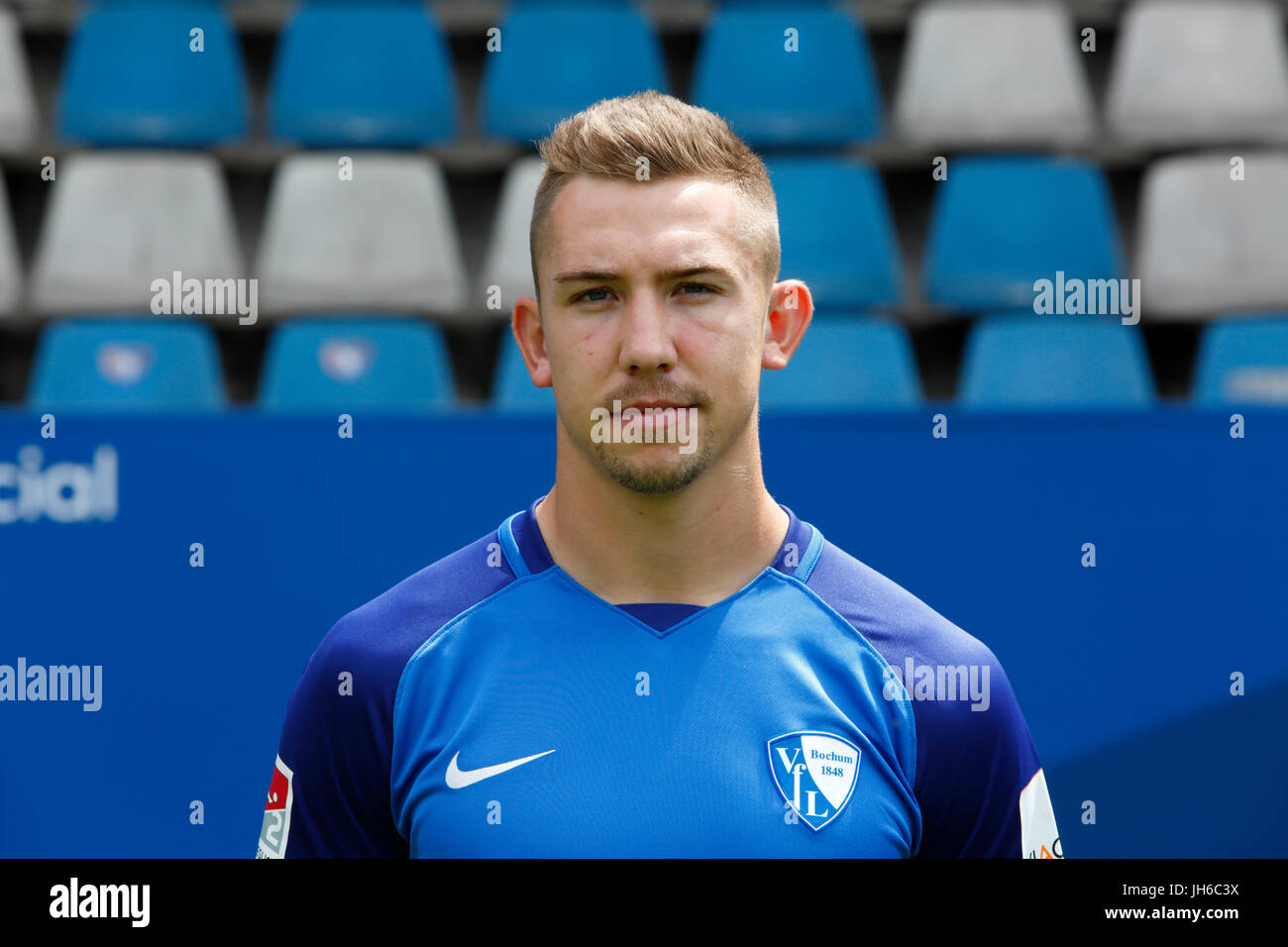 football, 2. Bundesliga, 2017/2018, VfL Bochum, team presentation for the game season, Russel Canouse - Stock Image
