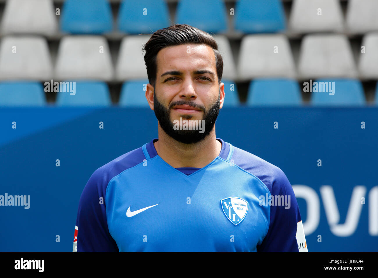 football, 2. Bundesliga, 2017/2018, VfL Bochum, team presentation for the game season, Selim Guenduez - Stock Image