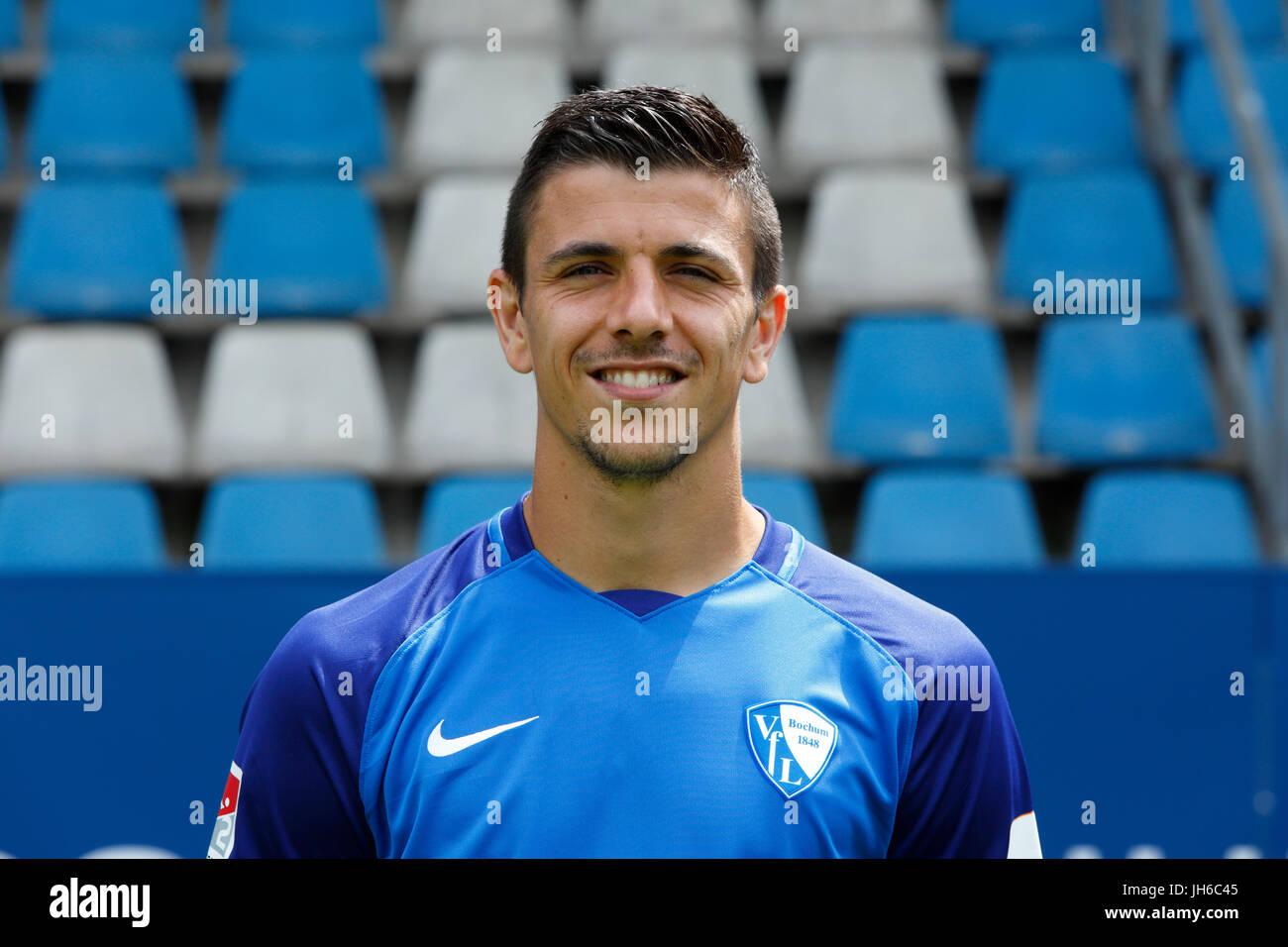 football, 2. Bundesliga, 2017/2018, VfL Bochum, team presentation for the game season, Anthony Losilla - Stock Image