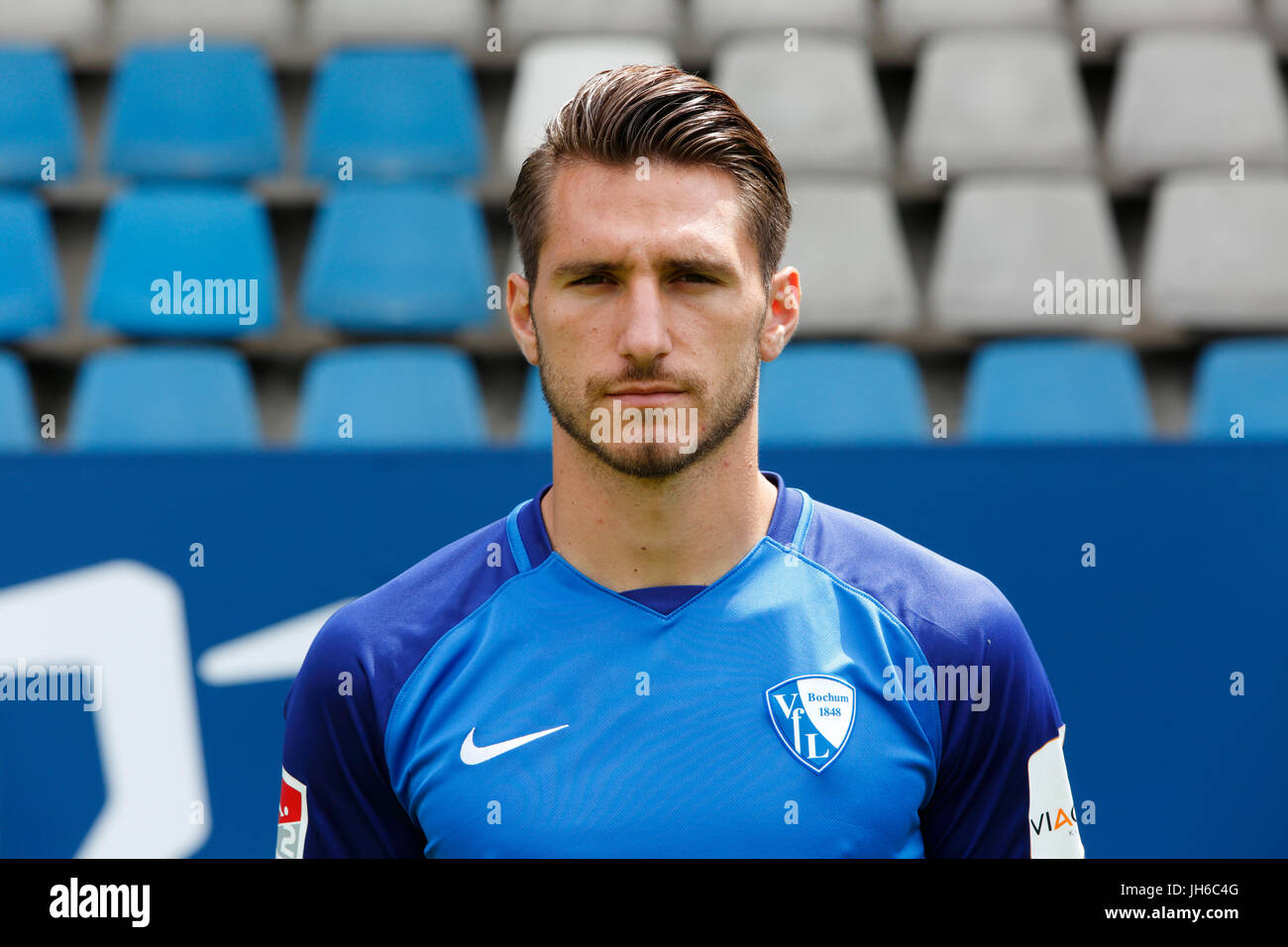 football, 2. Bundesliga, 2017/2018, VfL Bochum, team presentation for the game season, Dimitrios Diamantakos - Stock Image