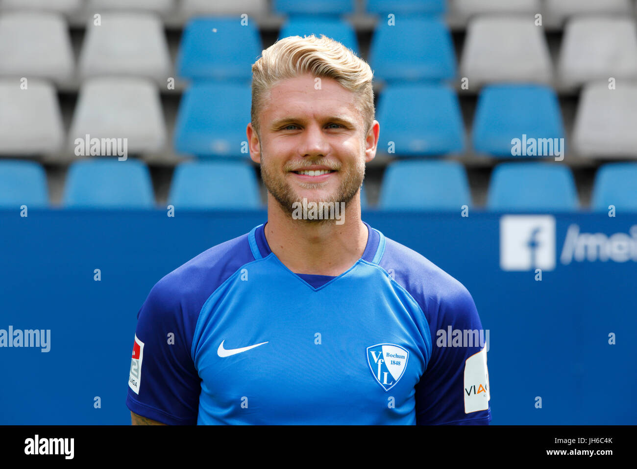 football, 2. Bundesliga, 2017/2018, VfL Bochum, team presentation for the game season, Alexander Merkel - Stock Image