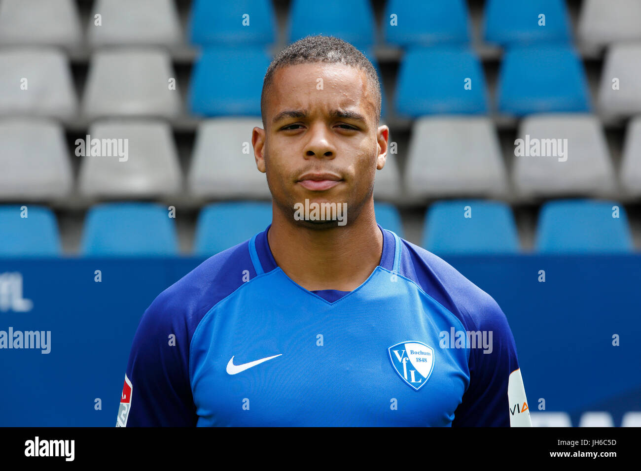 football, 2. Bundesliga, 2017/2018, VfL Bochum, team presentation for the game season, Jan Gyamerah - Stock Image