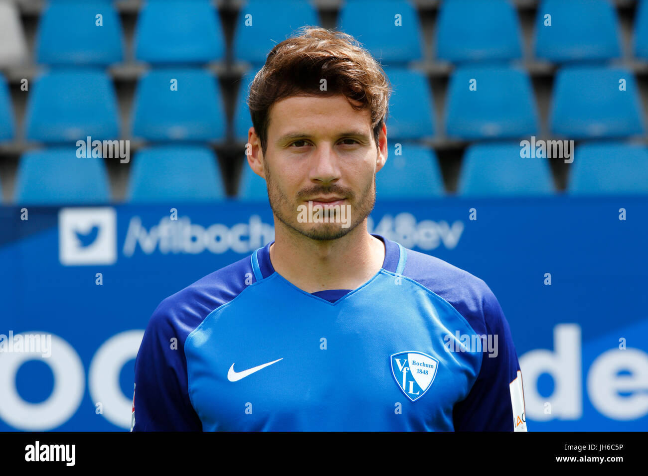 football, 2. Bundesliga, 2017/2018, VfL Bochum, team presentation for the game season, Stefano Celozzi - Stock Image