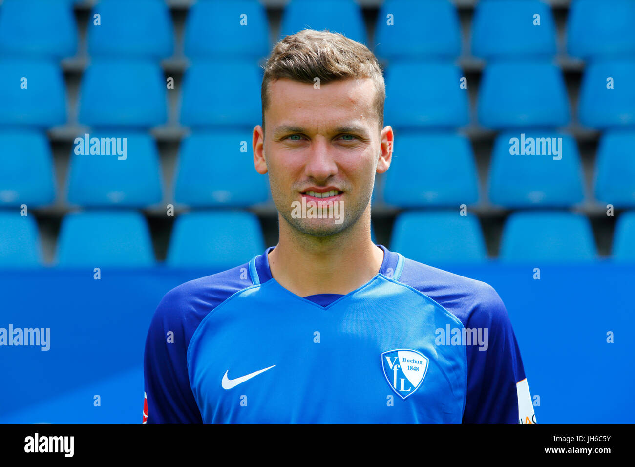 football, 2. Bundesliga, 2017/2018, VfL Bochum, team presentation for the game season, Tom Weilandt - Stock Image