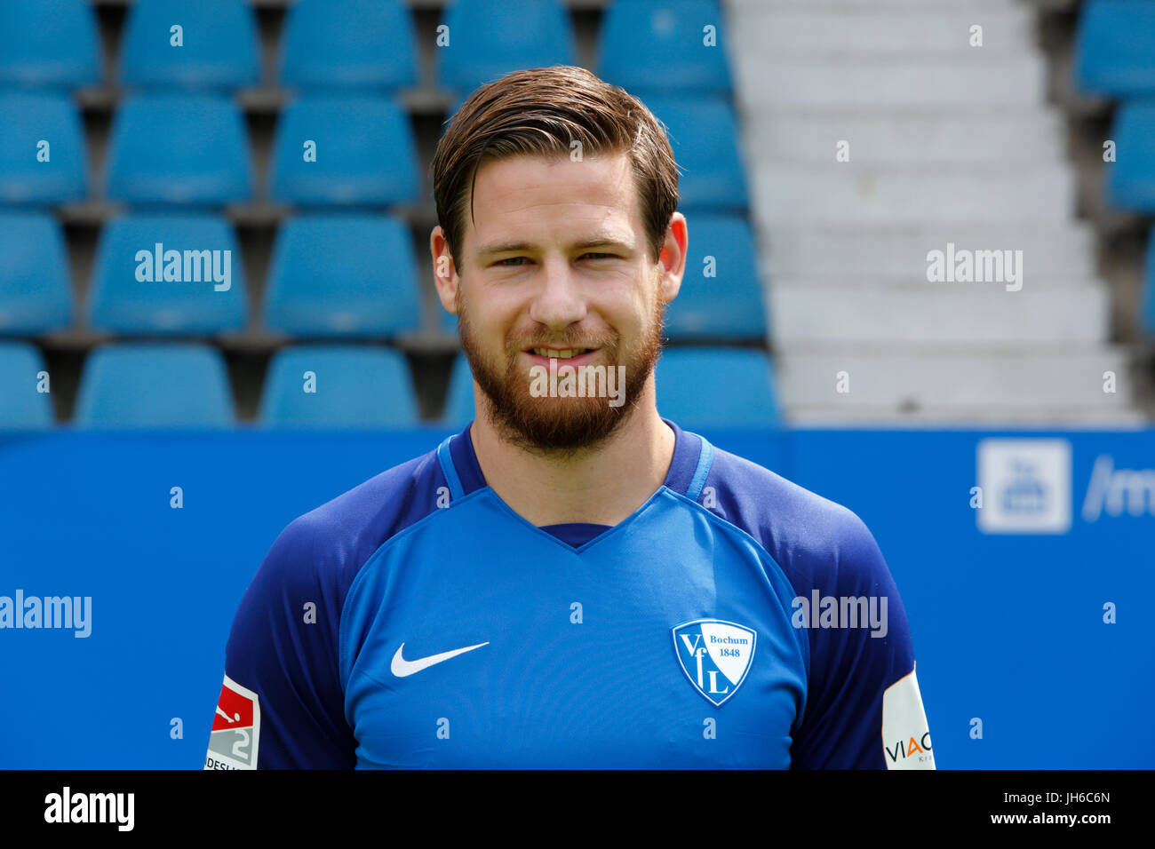football, 2. Bundesliga, 2017/2018, VfL Bochum, team presentation for the game season, Timo Perthel - Stock Image