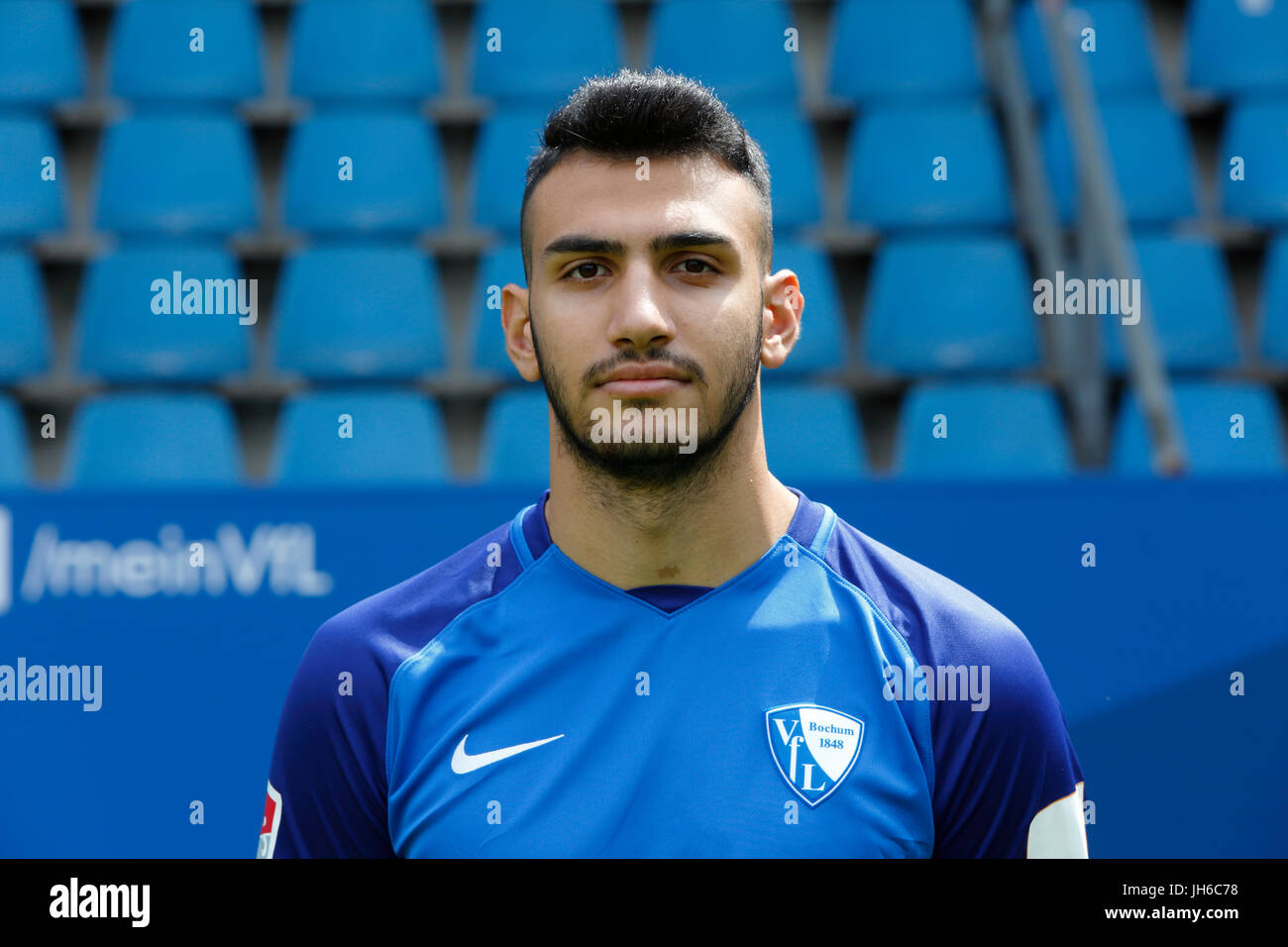 football, 2. Bundesliga, 2017/2018, VfL Bochum, team presentation for the game season, Evangelos Pavlidis - Stock Image