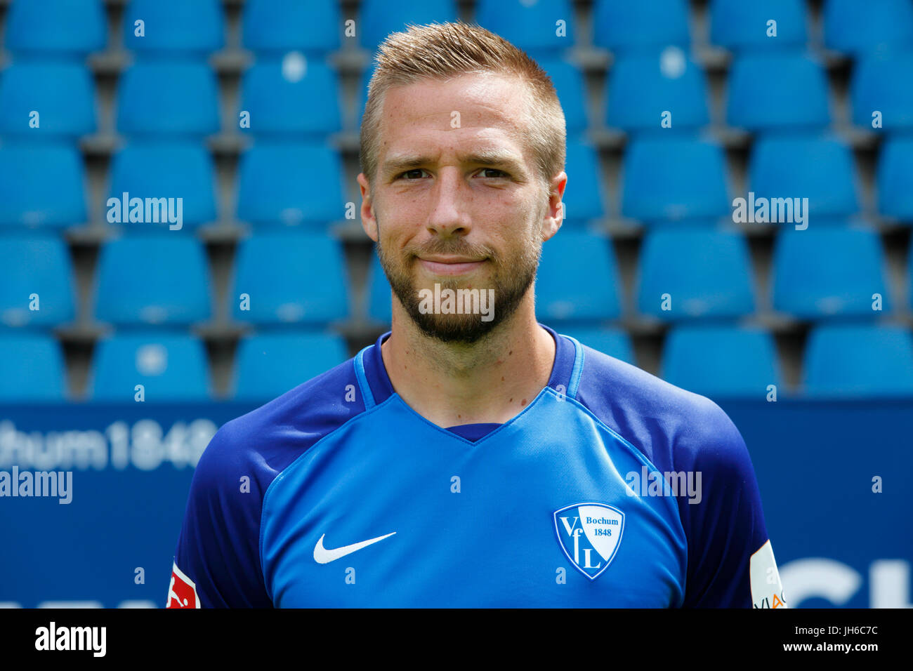 football, 2. Bundesliga, 2017/2018, VfL Bochum, team presentation for the game season, Marco Stiepermann - Stock Image