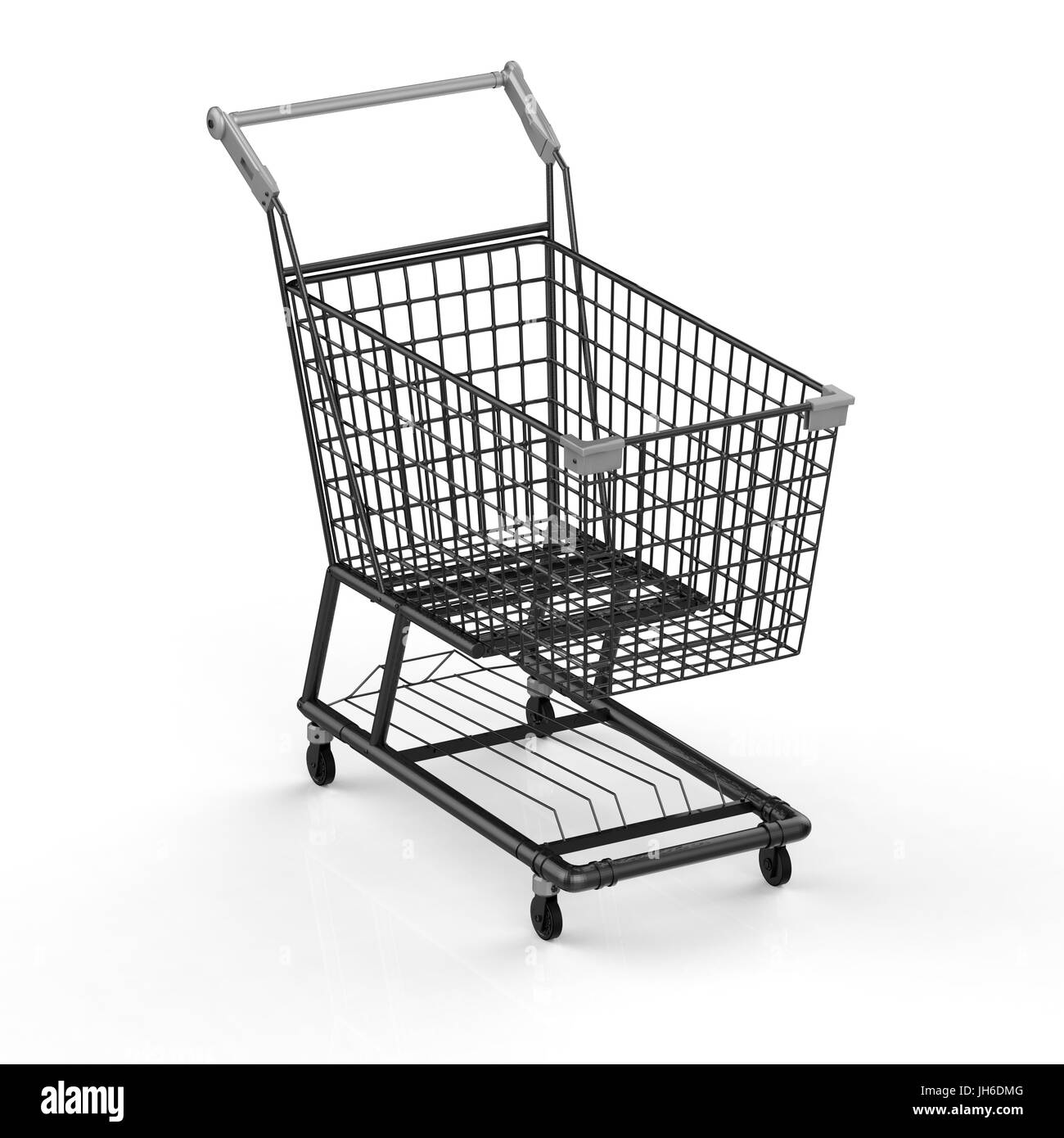 3d rendering empty black shopping cart stock photo 148274576 alamy