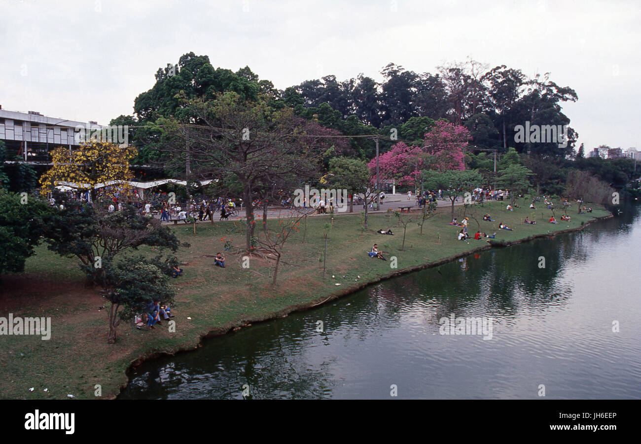Ibirapuera Park, Sao Paulo, Brazil Stock Photo
