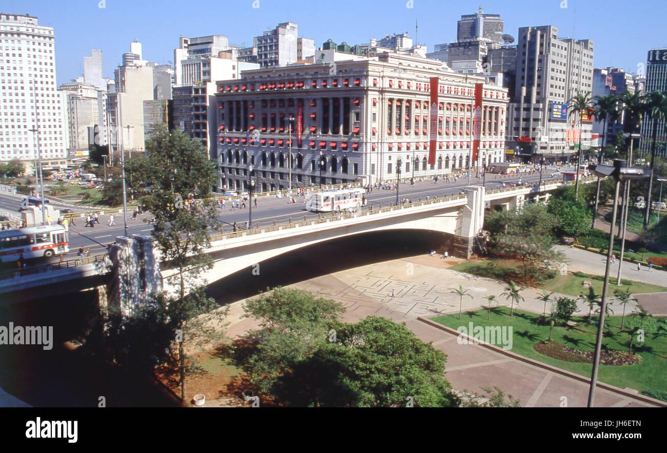 Chá Viaduct, Center, Sao Paulo, Brazil Stock Photo