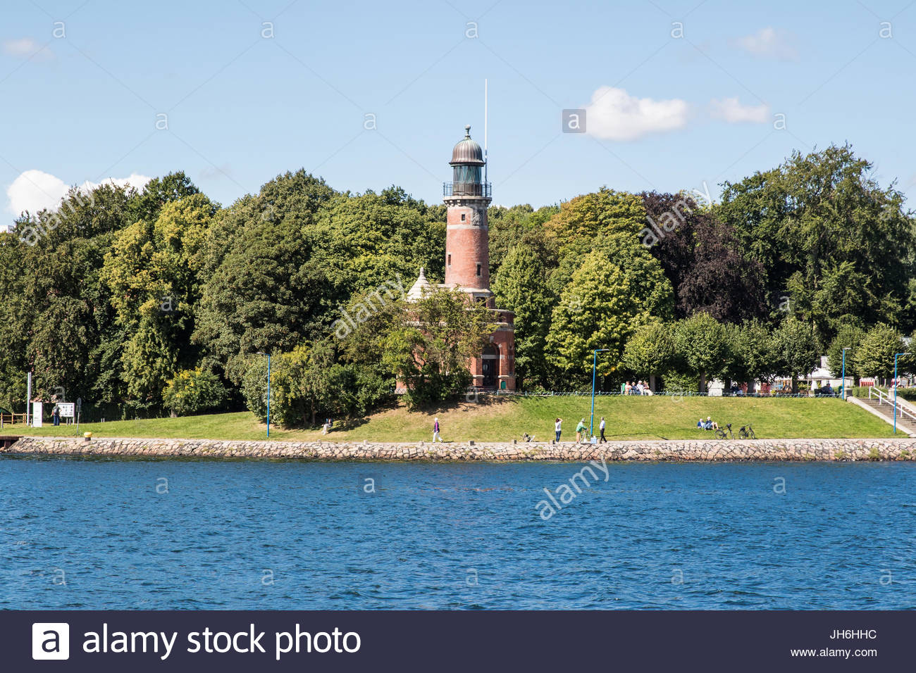 lighthouse kiel-holtenau, kiel, kieler förde, baltic sea, schleswig-holstein, germany - Stock Image