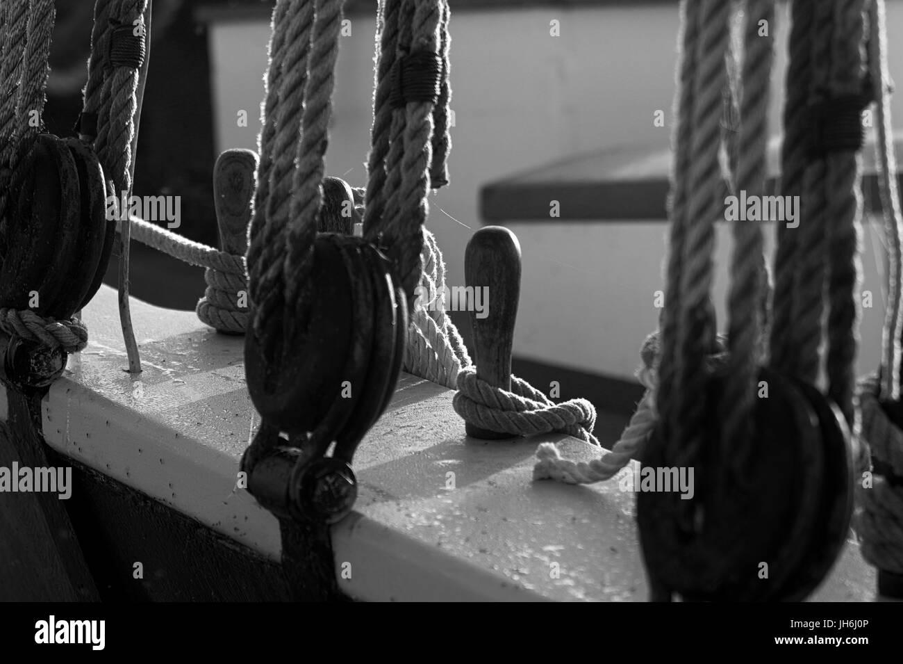 Ships rigging - Stock Image