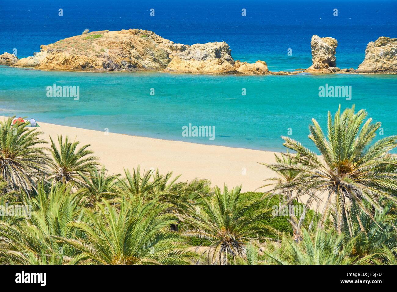 Vai Beach, Crete Island, Greece - Stock Image