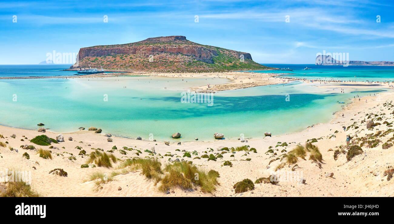 Balos Beach, Gramvousa Peninsula, Crete Island, Greece - Stock Image