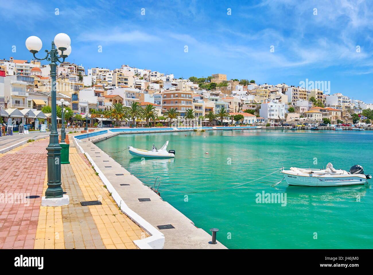 Promenade In Sitia Crete Island Greece Stock Photo