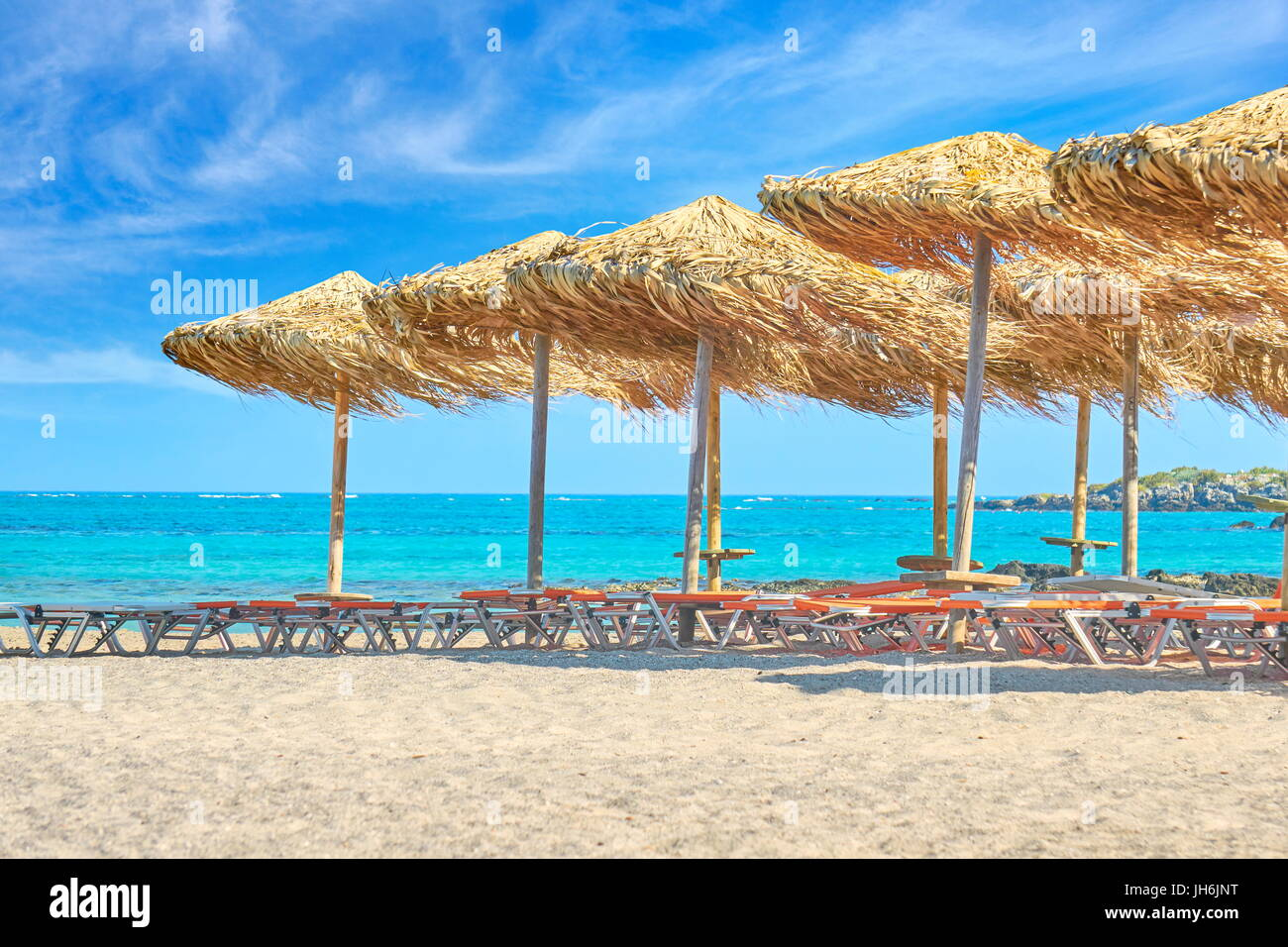Elafonissi Beach, Crete Island, Greece - Stock Image