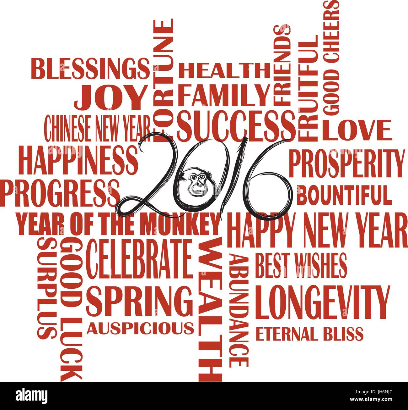 2016 Chinese Lunar New Year English Greetings Text Wishing Health