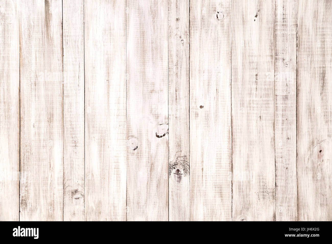 Vintage White Wood Planks Texture Background