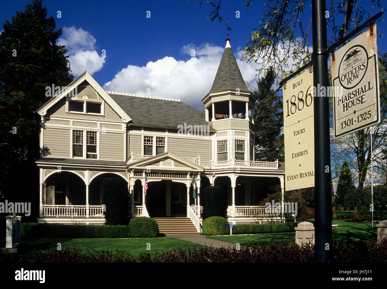Marshall House, Vancouver National Historic Reserve, Washington Stock Photo