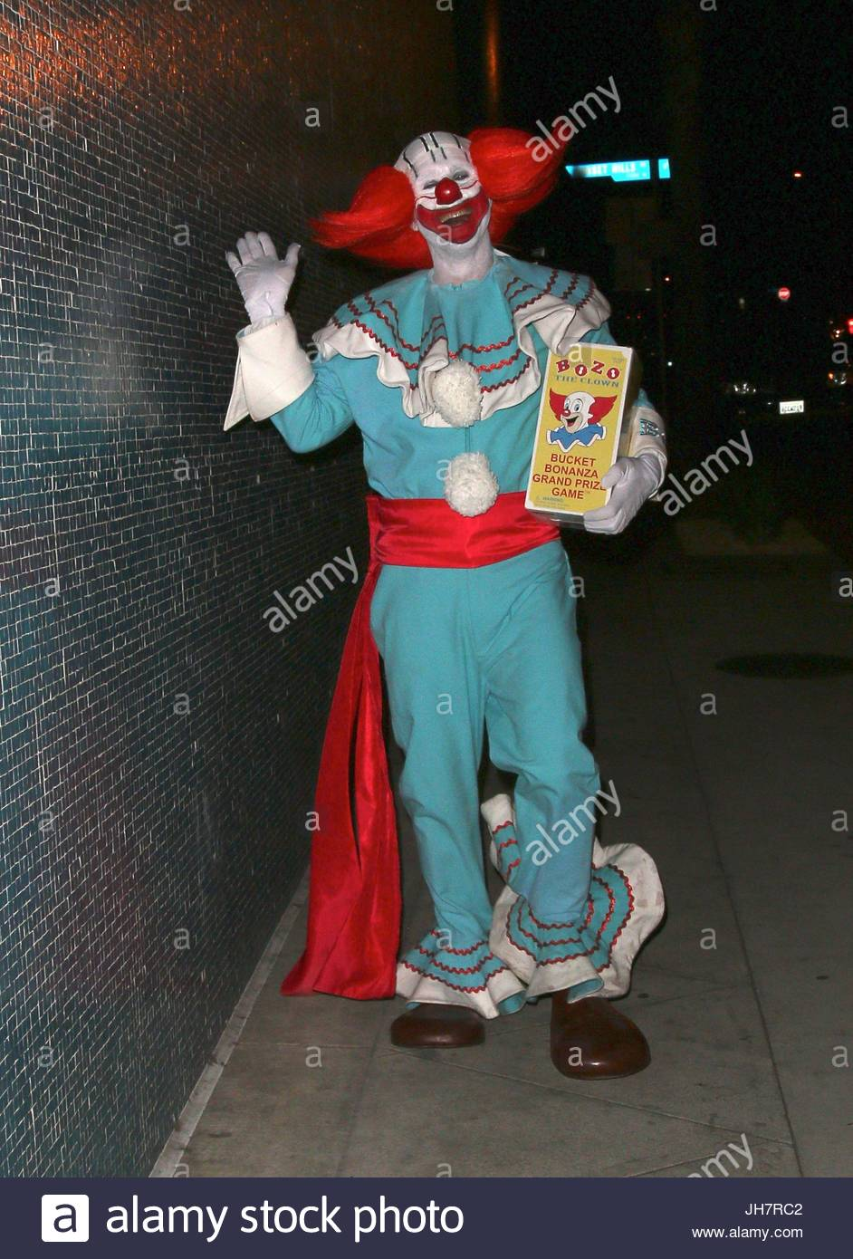 David Arquette. David Arquette dresses up as Bozo the Clown at the ...