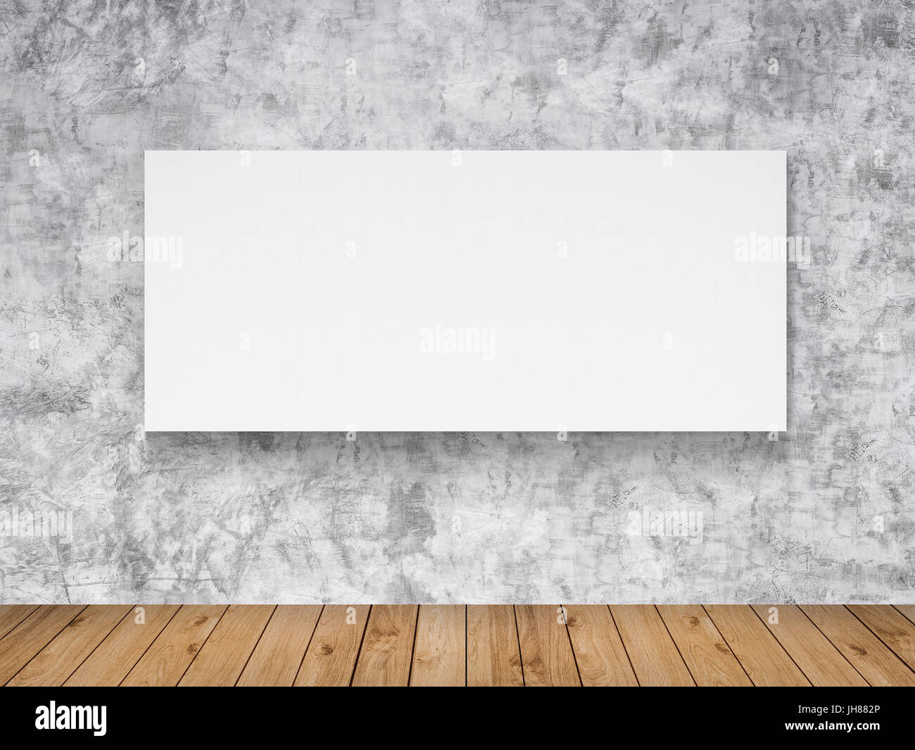 3d rendering blank white frame hanging on wall Stock Photo ...