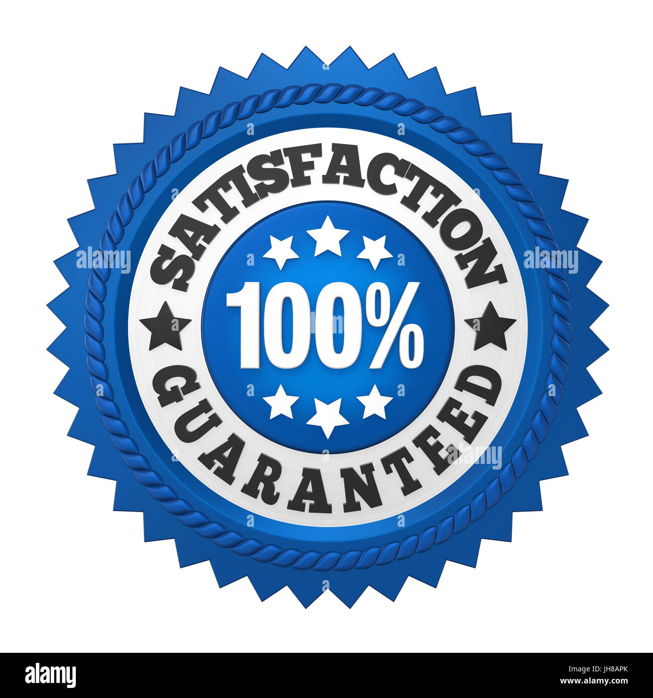 Satisfaction Guaranteed Label Isolated - Stock Image