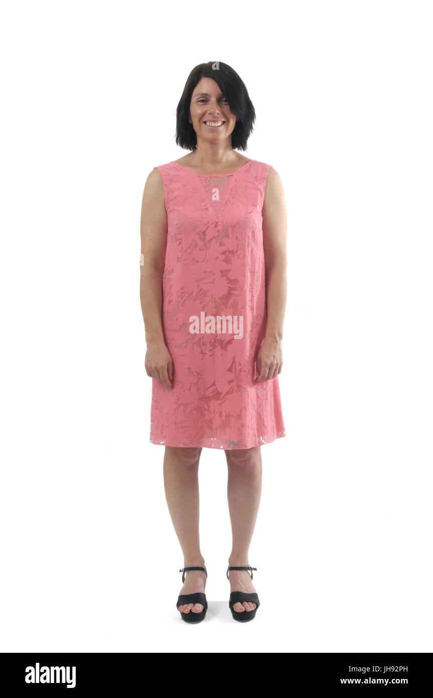 ff3aea004c7 Pink Dress White Background Stock Photos   Pink Dress White ...