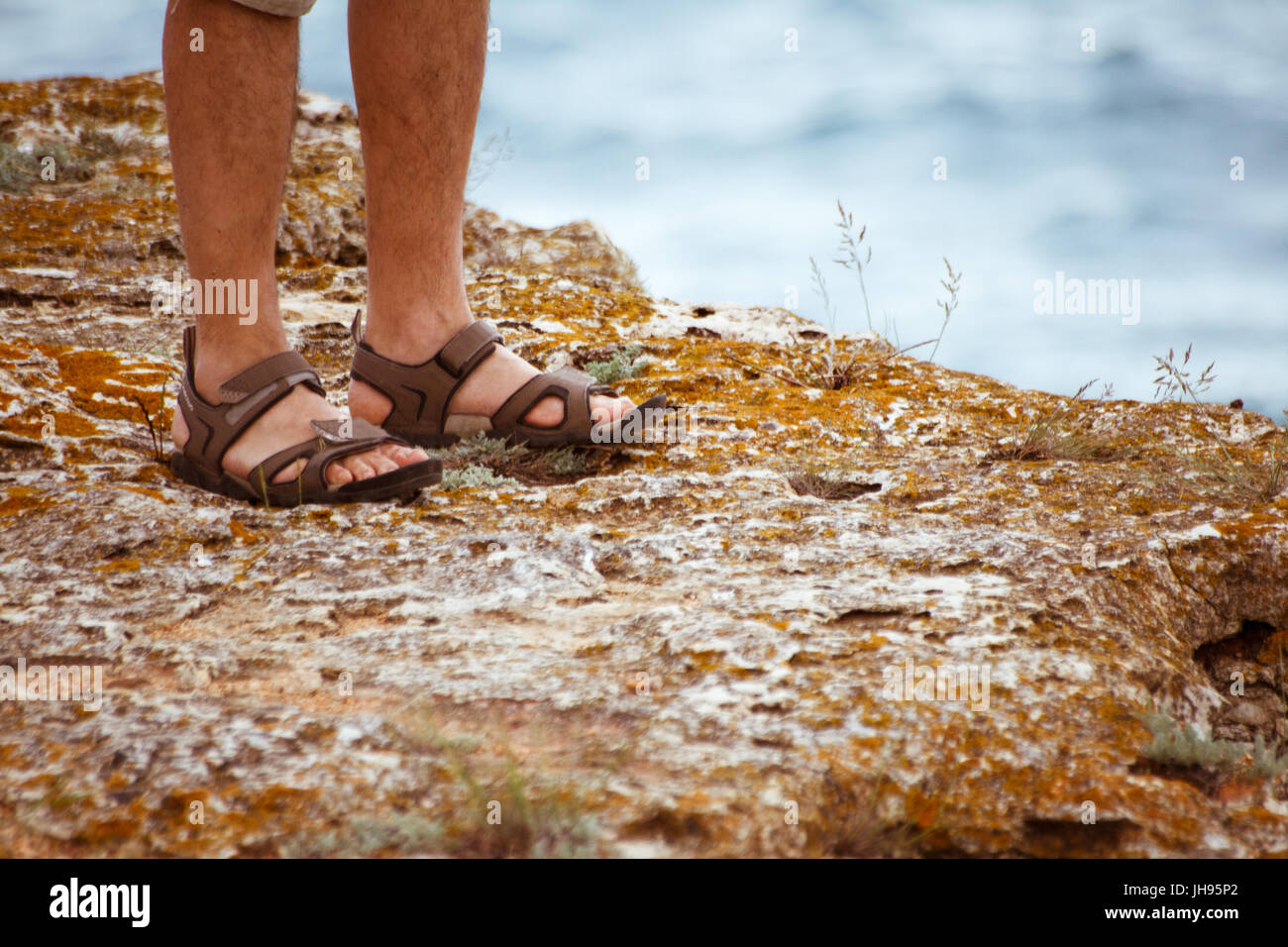 8564d6f7eac Sandals Man Woman Stock Photos   Sandals Man Woman Stock Images - Alamy