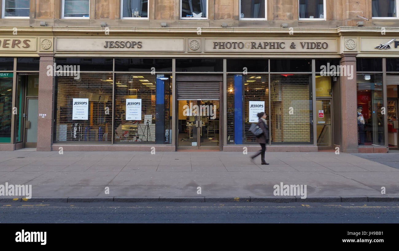 Jessops Sauchiehall st high street store after administration being decommissioned after its demise at the time - Stock Image