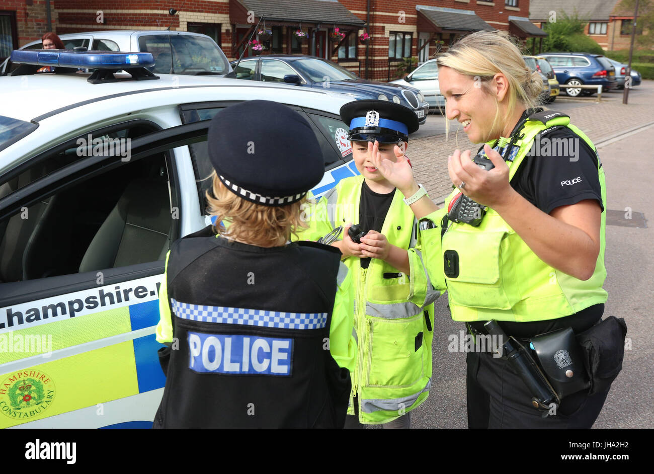 Licensed To UK News In PicturesPortsmouthHampshire Thursday 13th July 2017 Police Paid A Visit Local Boy Whose Mum Put Out Plea On Facebook Asking